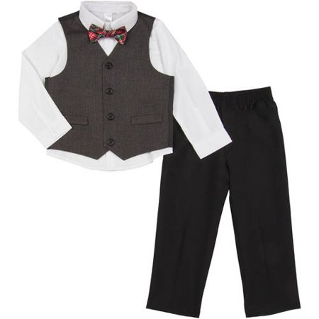 8336108f9 George - Toddler Boy 4-Piece Dressy Vest Set - Walmart.com