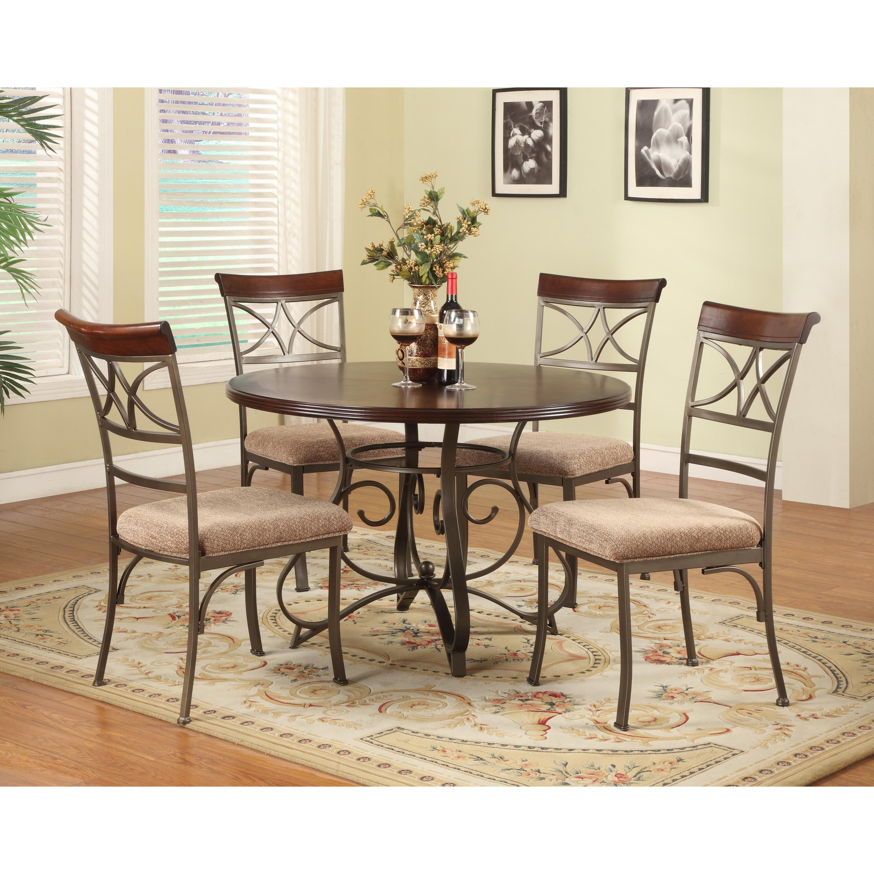 Powell 5-piece Eden Dining Room Set by Overstock