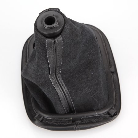 Car Black 5 Speed Gear Shift Knob Cover Gaitor Boot For VW Jetta PASSAT B5 1996-2005 - image 3 de 5