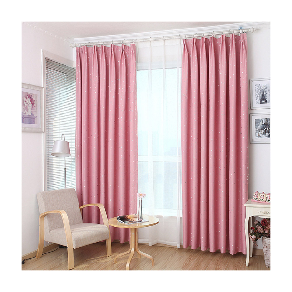 Aspire 2Pcs Insulated Blackout Room Darkening Curtains Shades Windshield Sun Shade Window Treatment Sunshade-Pink by