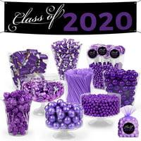 Purple Graduation Candy Buffet Class of 2020 (Approx 14lbs) - Feeds 24-36