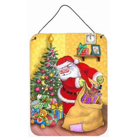 Carolines Treasures APH3923DS1216 Christmas Santa & His Toys Wall or Door Hanging Prints - image 1 de 1