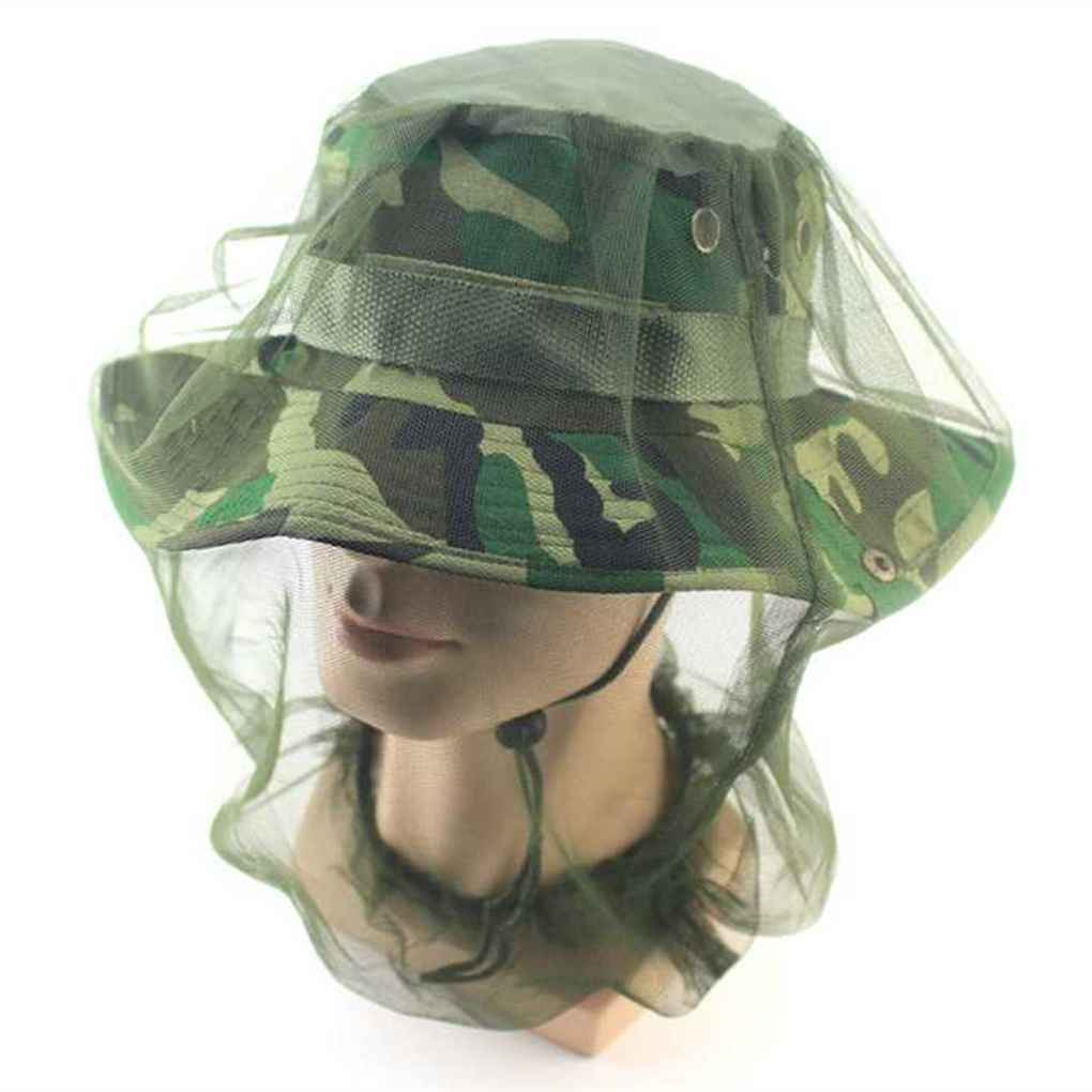 Camping Mosquito Bee Bug Insect Protection Face Head Protector Mesh Net Hat Cap