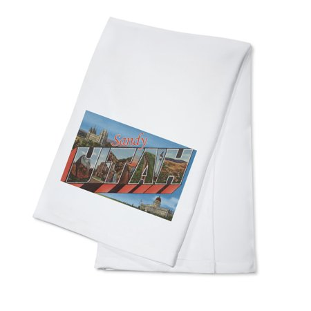 Sandy, Utah - Large Letter Scenes (100% Cotton Kitchen Towel) for $<!---->