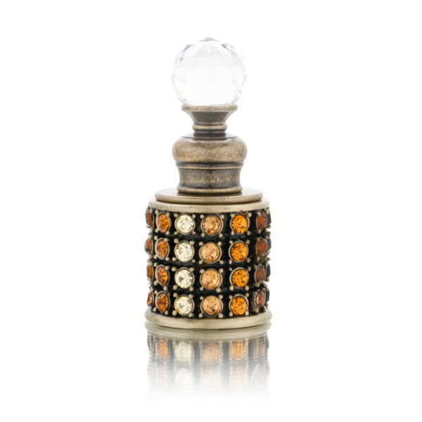 Amber Stones Decorative Perfume Bottle Model No. PB-1056 by