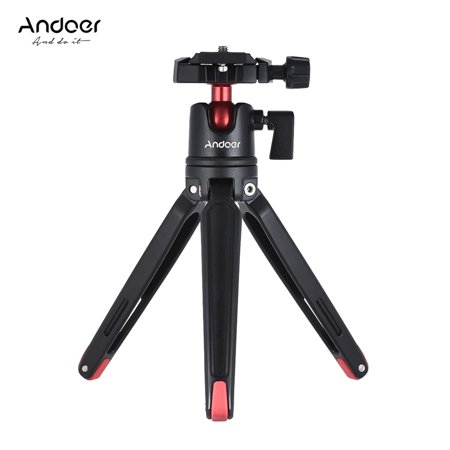 Andoer Mini Handheld Travel Tabletop Tripod Stand with Ball Head for Canon Nikon Sony DSLR Mirrorless Camcorder for iPhone X 8 7 Plus 7s 6s for Samsung Huawei Honor 9 Smartphone for GoPro (Best Travel Tripod For Mirrorless Camera)