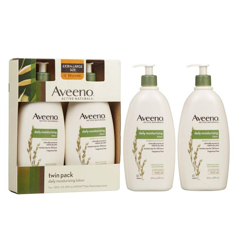 Aveeno Daily Moisturizing Lotion 20 oz. 2-pack - Walmart.com