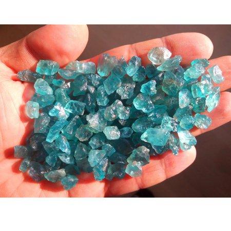 Mrosaa 100g Miniature Fairy Garden Natural Blue Apatite Chips Gravel 700-900pcs - image 3 de 4