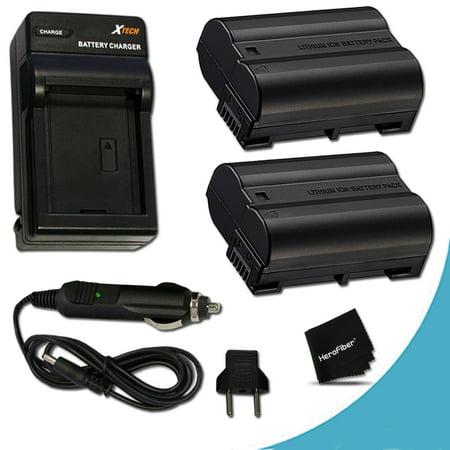 2 High Capacity Replacement Nikon EN-EL15 Batteries And 1 AC/DC Quick Charger Kit f/ Nikon D750 D7200, D7100, D7000, D810, D810A, D800, D800E, D600, D610, 1V DSLR - Nikon D600 Dslr Camera