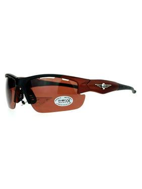 da912034f3d Product Image SA106 Winged Skull Baseball Half Rim Sport Plastic Sunglasses  Grey