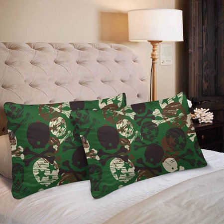 GCKG Seamless Camouflage Star Skull Print Pillow Cases Pillowcase 20x30 inches Set of 2 - image 3 of 4