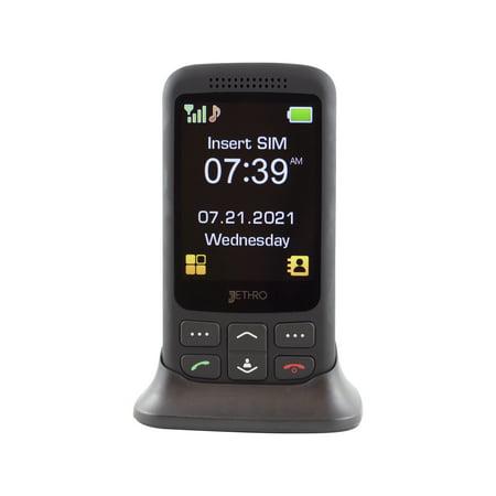 Jethro [SC435] 3G Unlocked Classic Slider-Style Senior & Kids Cell Phone, FCC/IC Certified, SOS Emergency Button, 2.8