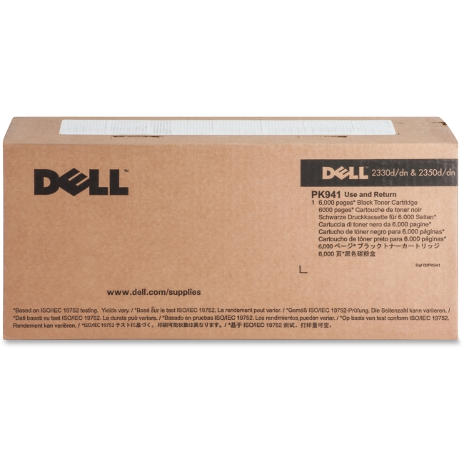 Dell Toner Cartridge - Black - Laser - High Yield - 6000 Page - 1 / Each