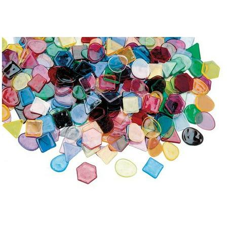 Colorations Large Translucent Mosaic Craft Tiles - 1 lb. (Item # DESIGNER) (Translucent Glass Tile)