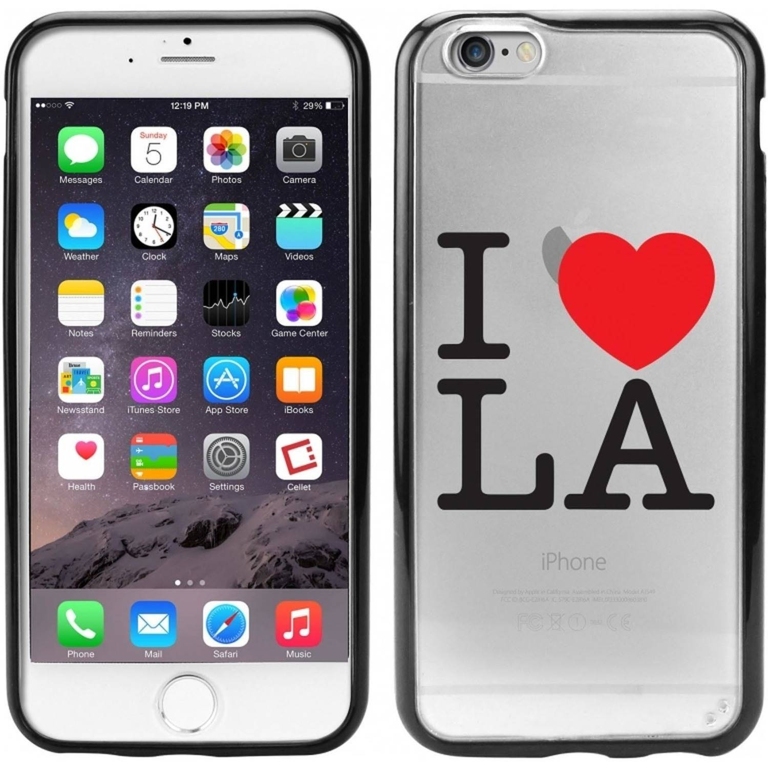 Cellet TPU/PC Proguard Case with I Love Los Angeles for Apple iPhone 6
