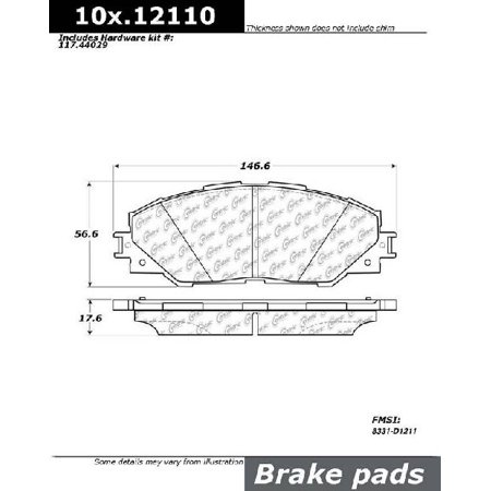 Go-Parts OE Replacement for 2006-2018 Toyota RAV4 Front Disc Brake Pad Set for Toyota RAV4 (Base /