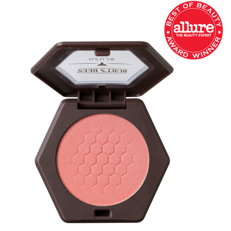 Burts Bees 100% Natural Blush with Vitamin E, Shy Pink, 0.19 (Best Blush Palette 2019)