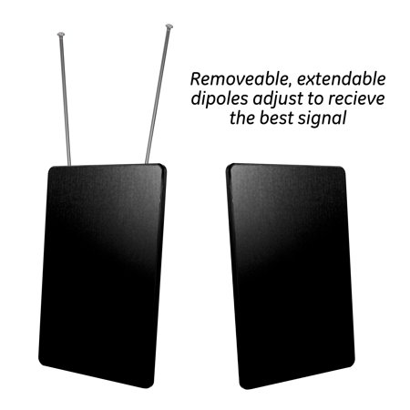 Ge Pro Flat Panel Indoor Tv Antenna 30 Mile Range Vhf