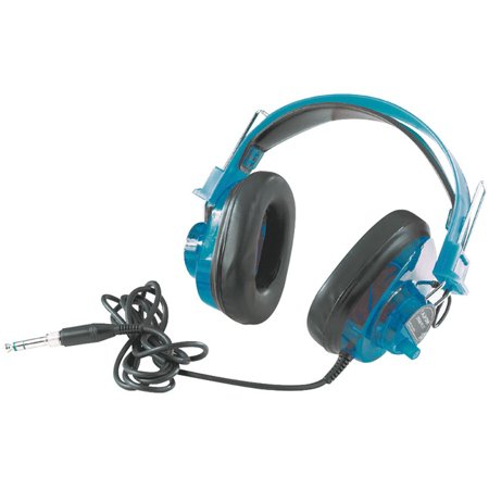 Califone 2924AVPS-BL Deluxe Stereo Headset, Blueberry