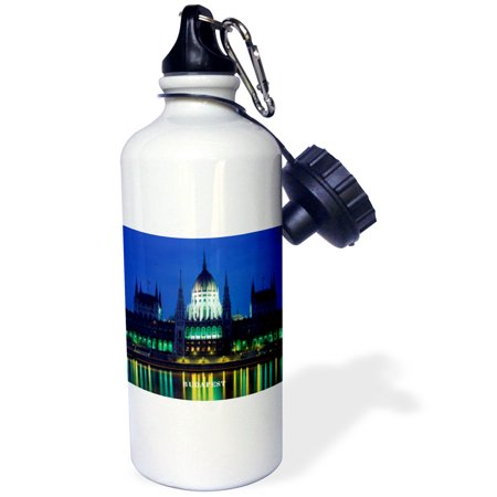 Hungarian Water - 3dRose Budapest Hungary At Nite, Sports Water Bottle, 21oz