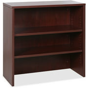 Lorell, LLR69614, Essentials Series Mahogany Stack-on Bookshelf, 1 Each, Mahogany