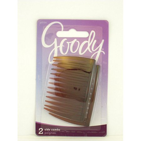 Goody Hair Comb (Mock Tortoise Side Combs - 2 Pcs., Goody Side Comb Mock Tortoise 2 Pcs Per Pk By Goody Ship from US )