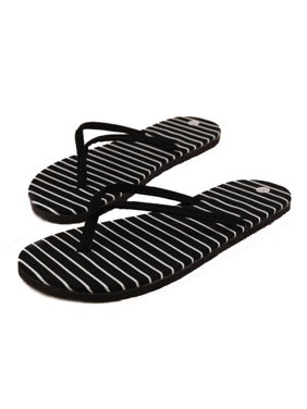 Product Image Black Stripe Flat Slippers Summer Beach Slippers Massage Slippers/37