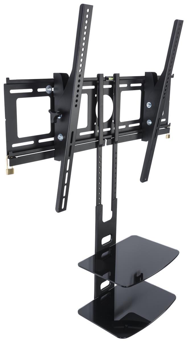 "Displays2go SHFMT4270B2 Tilting HDTV VESA Wall Mount for 42-70"" Flat Screen TVs, 2 Glass Shelves by Displays2go"