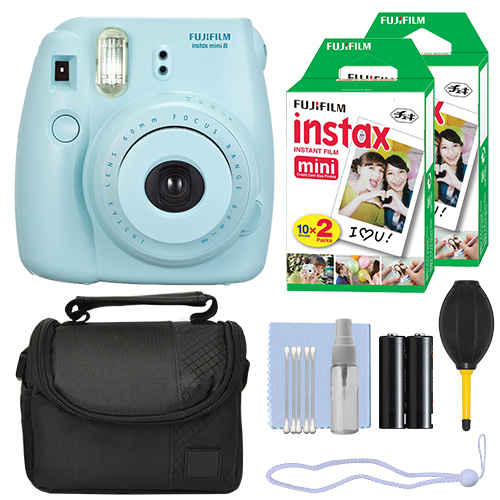 Fuji FujiFilm Instax Mini 8 Instant Film Camera Blue + 40 Film Accessory Kit by Fujifilm