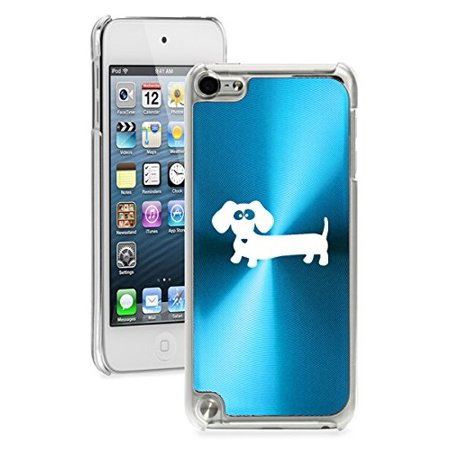 For Apple iPod Touch 5th / 6th Generation Hard Back Case Cover Dachshund Cartoon (Light Blue) ()