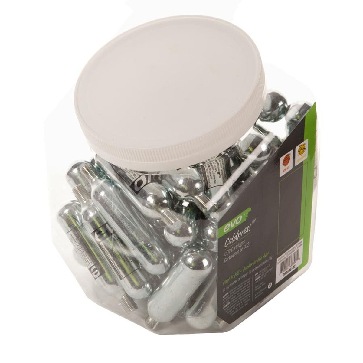 EVO 16g Threaded CO2 Cartridge - Jar of 50 - 760495-02