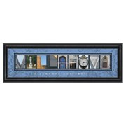 Framed Letter Wall Art - Villanova University - 24W x 8H in.