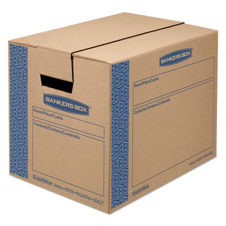 Bankers Box Smoothmove Prime Small Moving Boxes  16L X 12W X 12H  Kraft Blue  10 Carton