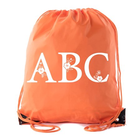 08df77c64aad Mato   Hash - Monogrammed Backpack Custom Initial Drawstring Backpacks  Personalized Cinch Sack - Walmart.com