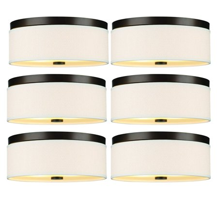 Philips Forecast 60W Cassandra Ceiling Light w/ Natural Shade, Bronze (6 Pack) (Forecast Flush)