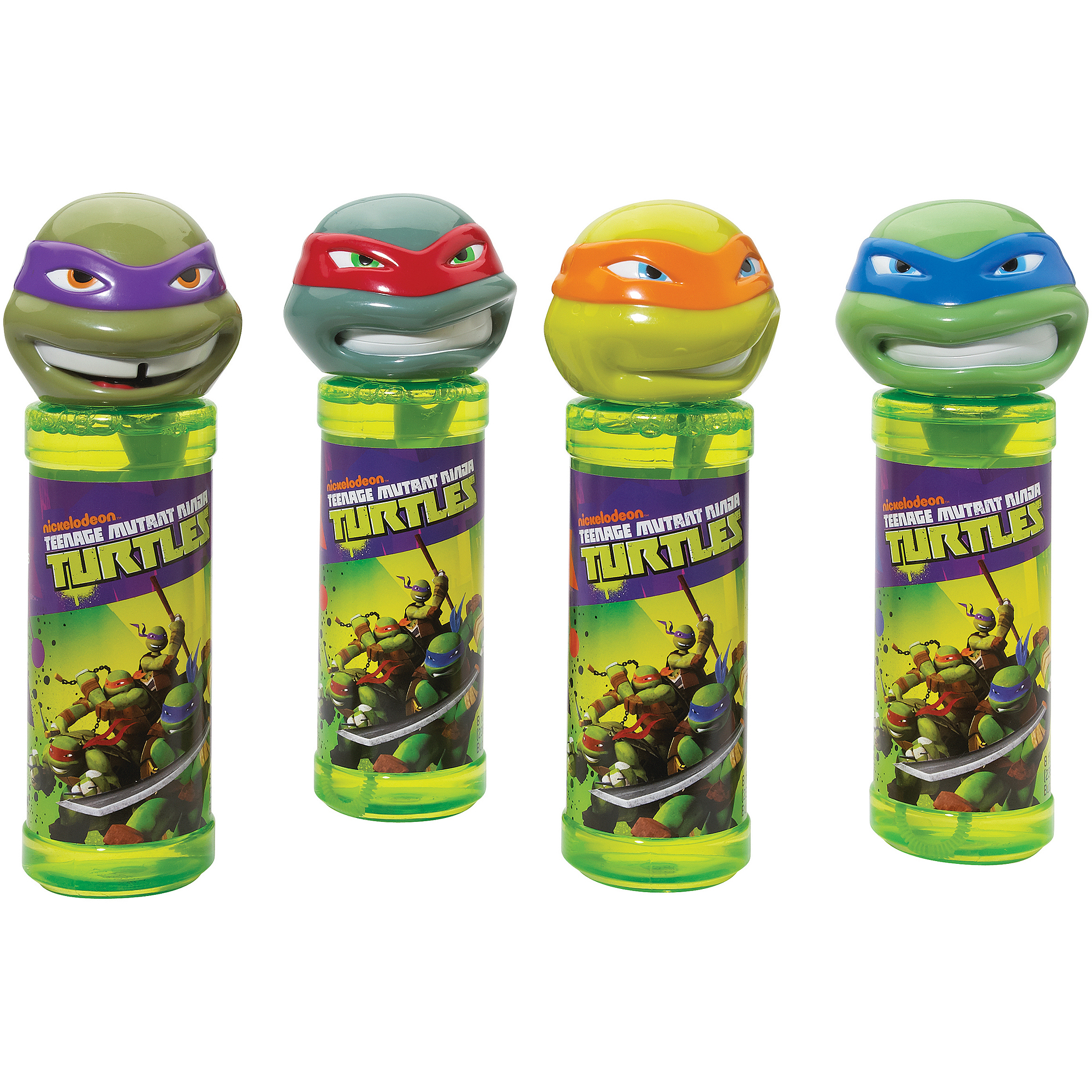 Little Kids Teenage Mutant Ninja Turtles Bottles of Bubbles, 4-Pack