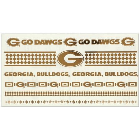 Georgia Bulldogs Flash Fashion Gold Tattoo Set - No Size - Georgia Bulldog Tattoos