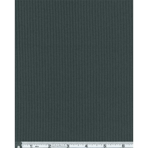 Slate Gray Rib Knit, Fabric By the Yard