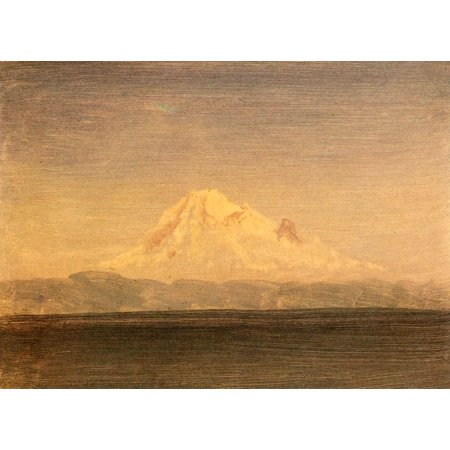 Framed Art for Your Wall Bierstadt, Albert - Snow -capped mountains (Pacific Northwest) [1] 10 x 13 (Best Fruit Trees For Pacific Northwest)