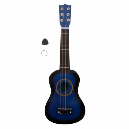cb57cf9e91 Kids 6 String Acoustic Classic Guitar Musical Instrument Toy w/ Guitar Pick  & Tunable Vibrant Ukulele Sounds , Acoustic Guitar (21