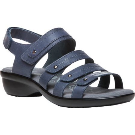 propt propet women's aurora wedge sandal, blue, 6 4e us