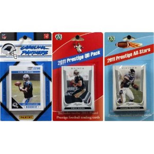 C & I Collectables 2011PANTHERSTSC NFL Carolina Panthers Licensed 2011 Score Team Set With Twelve Card 2011 Prestige
