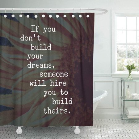 BSDHOME Inspirational Quote Best Motivational Quotes Sayings About Life Wisdom Positive Bathroom Shower Curtain 66x72 inch - image 1 of 1