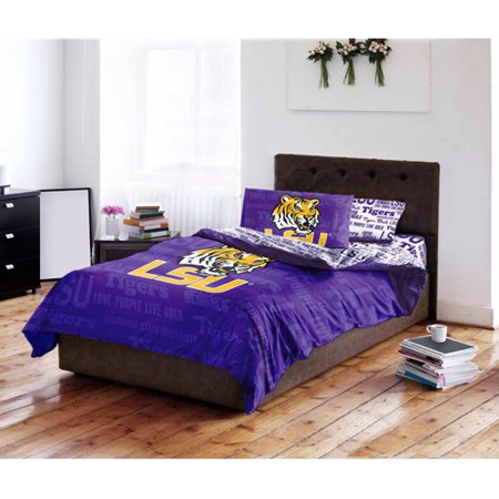 NCAA Louisiana State University Tigers Bed In A Bag Complete Bedding Set Custom Lsu Bedroom Style Painting