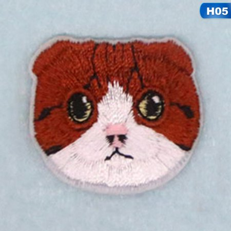 Beautiful Iron - Fancyleo Beautiful Embroidery Cat Head Patch Baby Clothing Patch Backpack Decoration Small Iron On Patch