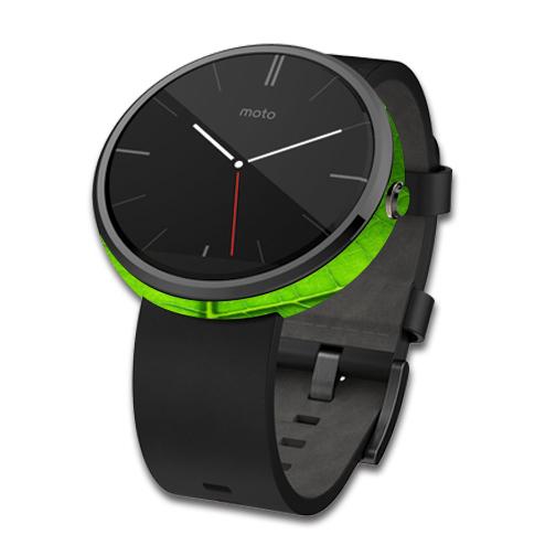 Skin Decal Wrap for Motorola Moto 360 Smart Watch cover Green Leaf