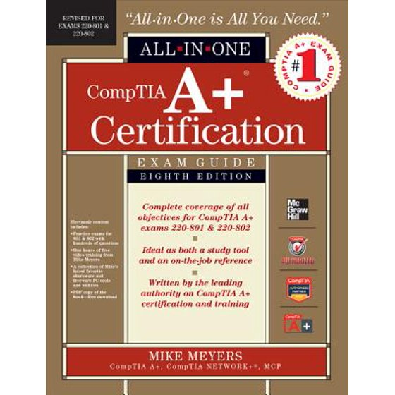 Comptia A Certification All In One Exam Guide By Meyers Walmart
