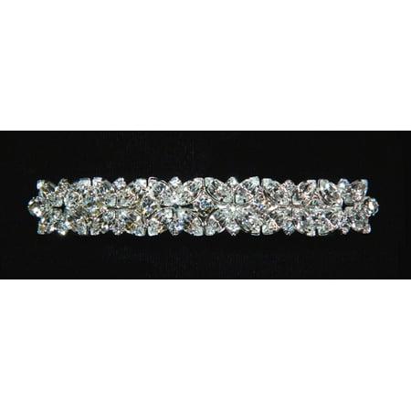 #12234 - Multiple Crystal Clover Barrette](Crystal Barrettes)