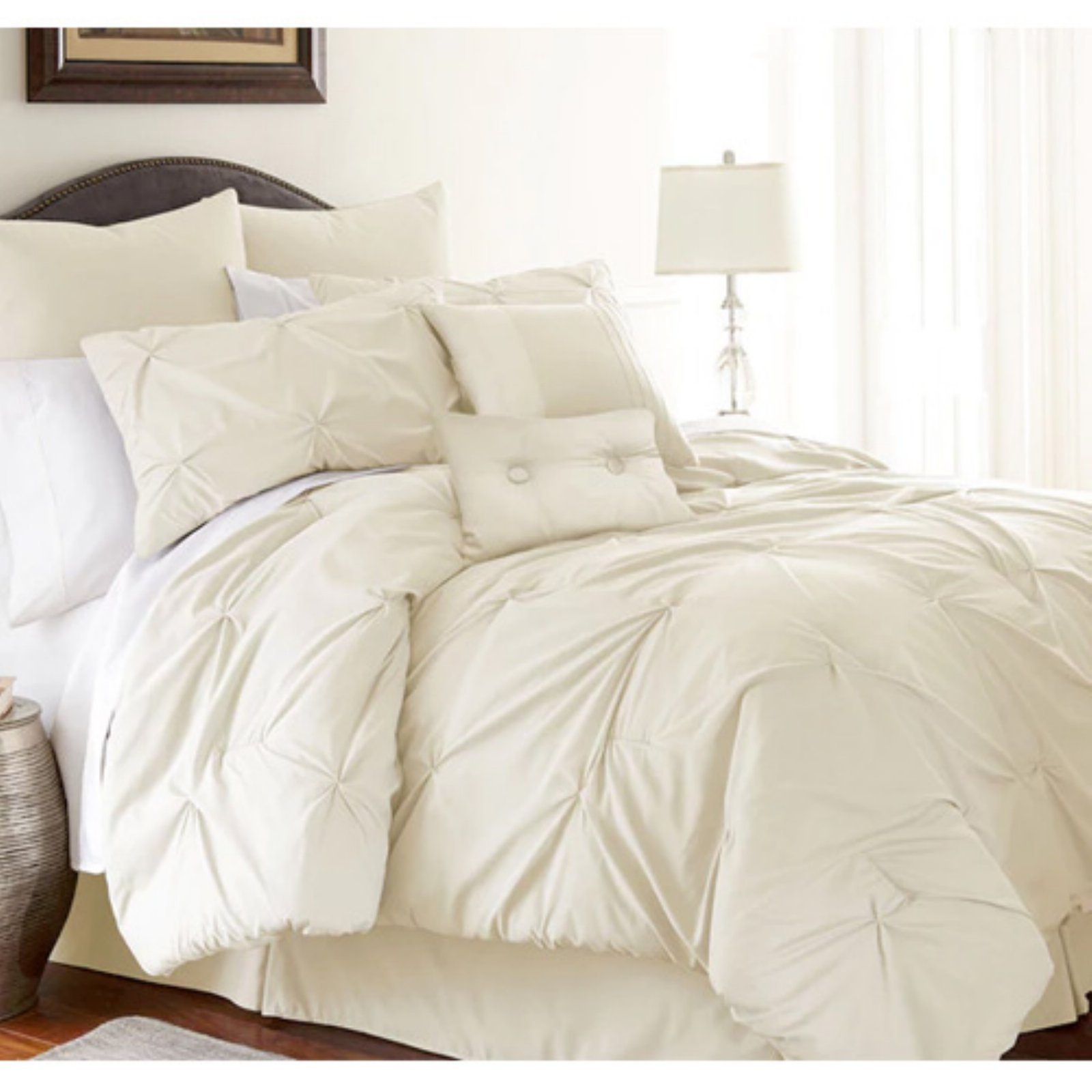 Ella 8-piece Embellished Comforter Set Platinum