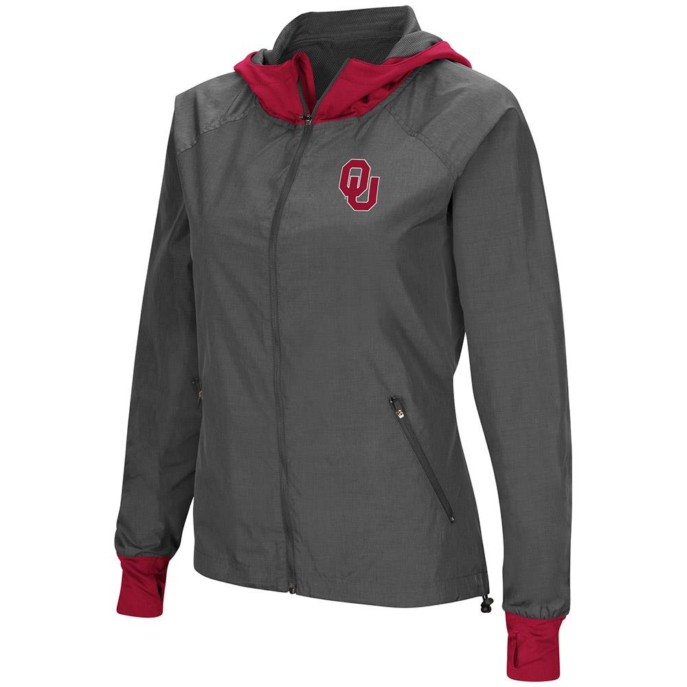 Womens Oklahoma Sooners Hooded Jacket by Colosseum